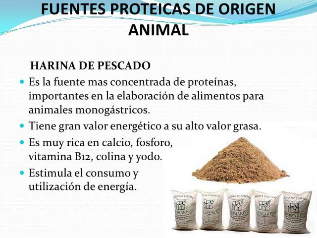 HARINA DE PESCADO VARIAS PROTEINAS.