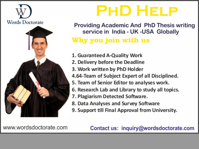 PhD Thesis Writing Services in Chandigarh