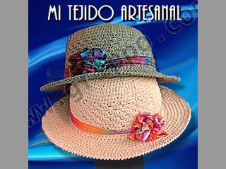 5a2f7c7594cec Sombreros Y Capelinas Tejidos Al Crochet