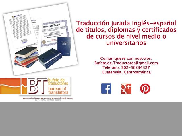 Traducción inglés-español de documentos académicos